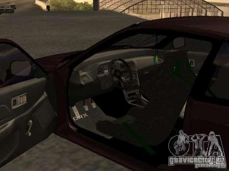 Honda Civic CRX JDM для GTA San Andreas вид изнутри