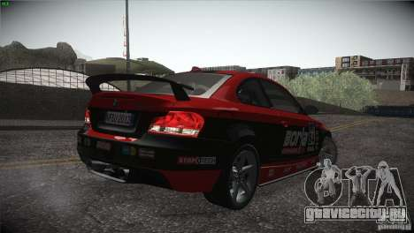 BMW 135i Coupe Road Edition для GTA San Andreas салон