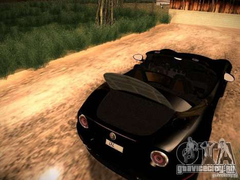 Alfa Romeo 8C Spider 2012 для GTA San Andreas вид изнутри