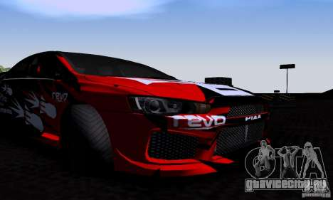 Mitsubishi Lancer Evolution X 2008 для GTA San Andreas вид изнутри
