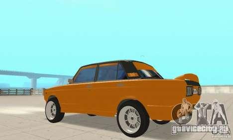 ВАЗ 2107 Off Road для GTA San Andreas вид сзади