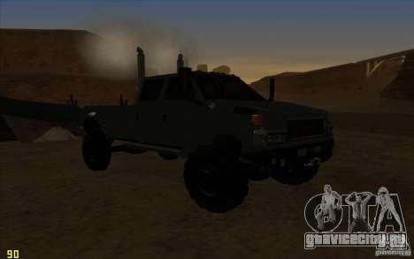 GMC Topkick Ironhide TF3 для GTA San Andreas вид сзади