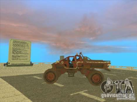 Jeep from Red Faction Guerrilla для GTA San Andreas вид сзади слева