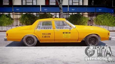Chevrolet Impala Taxi 1983 для GTA 4 вид сзади слева