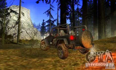 Jeep Wrangler для GTA San Andreas вид справа