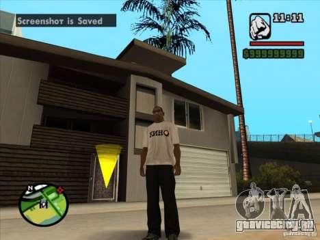 Футболка КИНО для GTA San Andreas второй скриншот