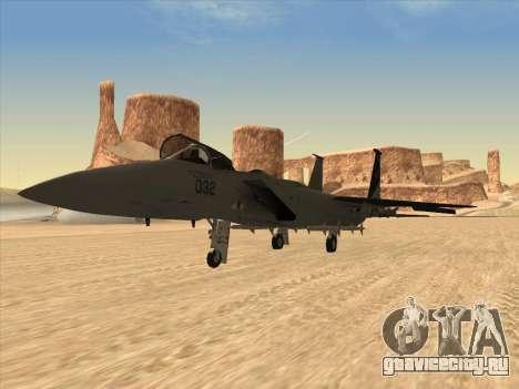 F-15C для GTA San Andreas вид сзади слева