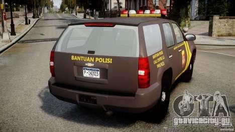 Chevrolet Tahoe Indonesia Police для GTA 4 вид сзади слева