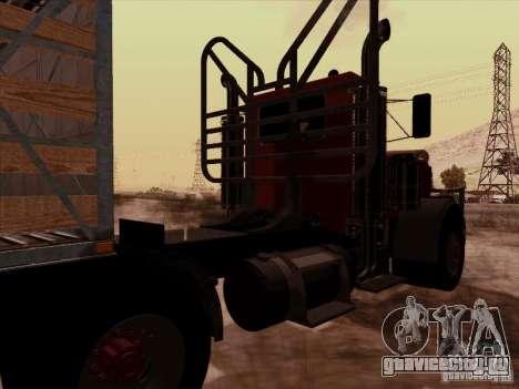 Peterbilt 359 Day Cab для GTA San Andreas вид сзади