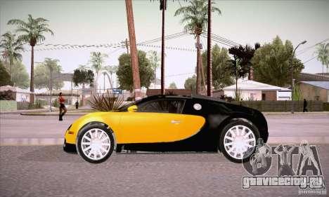 Bugatti Veyron 16.4 EB 2006 для GTA San Andreas вид слева