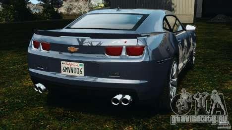Chevrolet Camaro ZL1 2012 v1.0 Smoke Stripe для GTA 4 вид сзади слева