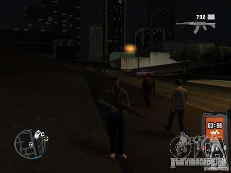 HUD и оружие из GTA IV для GTA San Andreas