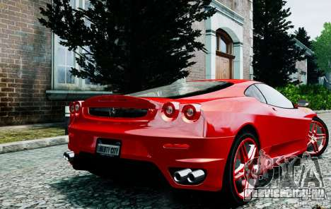 Ferrari F430 для GTA 4 вид сзади слева