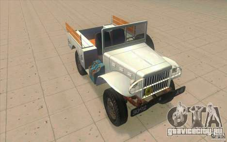 Dodge WC51 1944 для GTA San Andreas салон