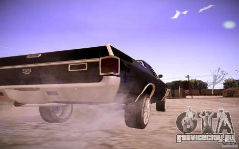Chevrolet El Camino SS 1970 для GTA San Andreas вид сзади