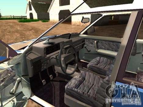 ВАЗ 2109 Полиция для GTA San Andreas вид изнутри
