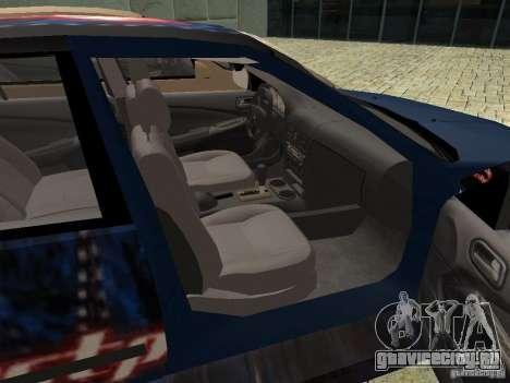 Nissan Sentra для GTA San Andreas вид сзади