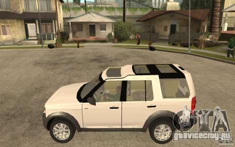 Land Rover Discovery 3 V8 для GTA San Andreas вид слева