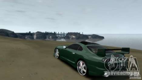 TOYOTA SUPRA TUNING для GTA 4 вид справа