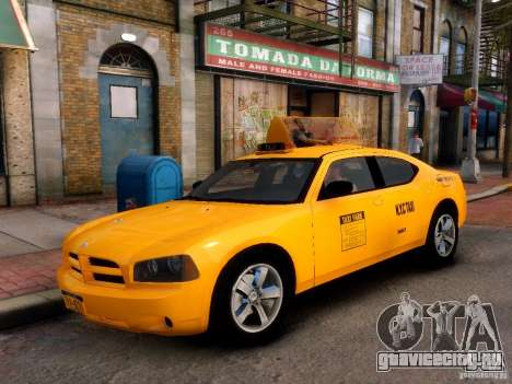 Dodge Charger NYC Taxi V.1.8 для GTA 4 вид справа