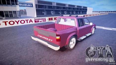 Chevrolet S10 для GTA 4 вид сверху