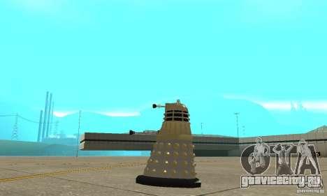 Dalek Doctor Who для GTA San Andreas вид слева