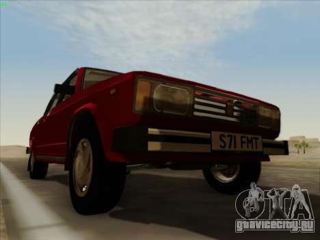 Lada 2105 RIVA (Экспортная) 2.0 для GTA San Andreas вид сверху