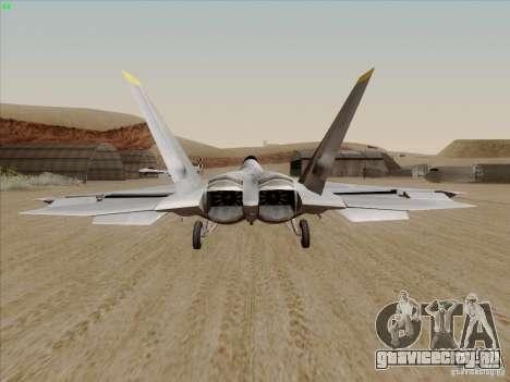 FA22 Raptor для GTA San Andreas вид сзади слева