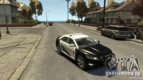 Ford Taurus Sheriff 2010 для GTA 4 вид справа