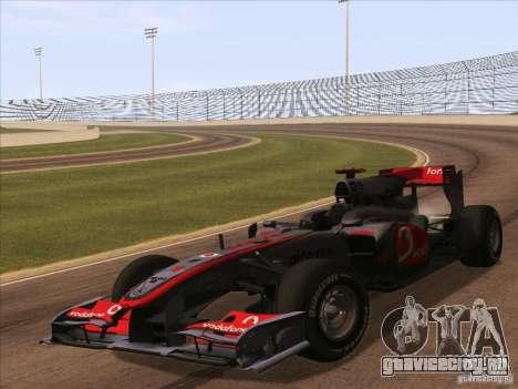 McLaren MP4-25 F1 для GTA San Andreas вид сзади слева