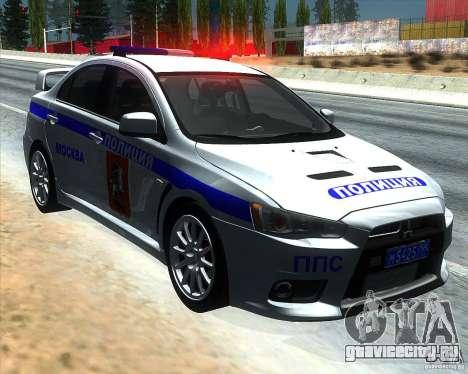 Mitsubishi Lancer Evolution X ППС Полиция для GTA San Andreas