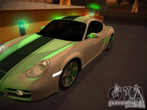 Porsche Cayman S Snow для GTA San Andreas вид справа