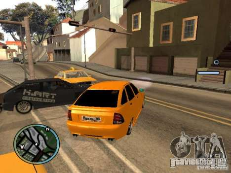 Lada Priora DagStailing для GTA San Andreas вид справа