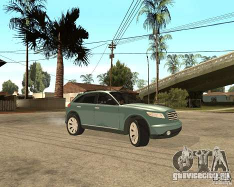 INFINITY FX45 для GTA San Andreas вид сверху