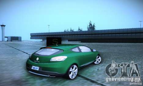 Renault Megane Coupe для GTA San Andreas вид сзади слева