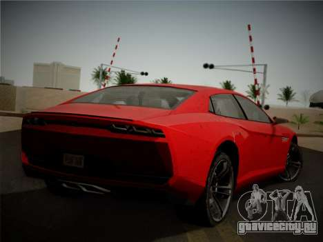 Lamborghini Estoque Concept 2008 для GTA San Andreas вид сзади