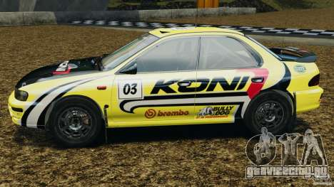 Subaru Impreza WRX STI 1995 Rally version для GTA 4 вид слева