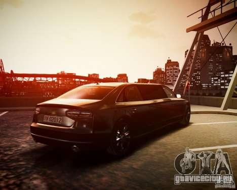 Audi A8 Limo для GTA 4 вид слева