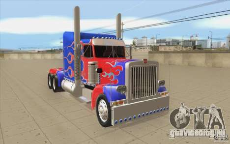 Peterbilt 379 Optimus Prime для GTA San Andreas вид сзади