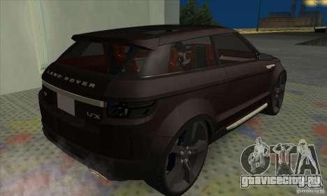 Land Rover LRX для GTA San Andreas вид сзади слева