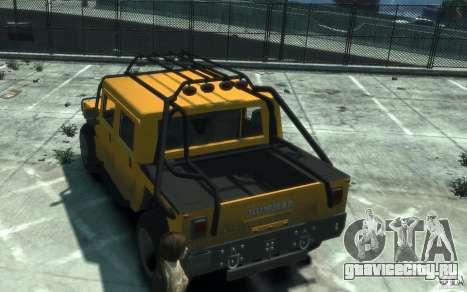 Hummer H1 4x4 Extras для GTA 4 вид справа