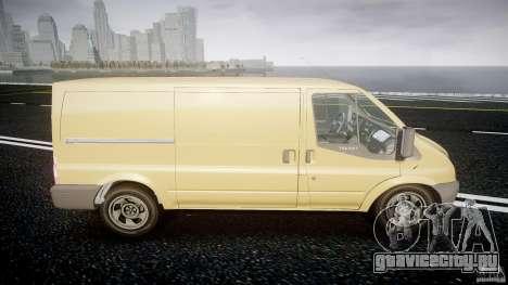 Ford Transit 2009 для GTA 4 вид изнутри