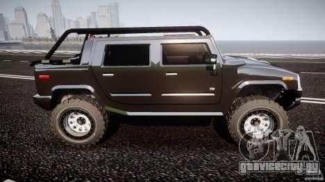Hummer H2 4x4 OffRoad v.2.0 для GTA 4 вид изнутри