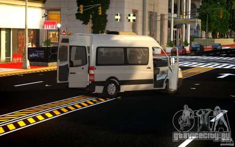 Mercedes-Benz Sprinter Passenger для GTA 4 вид изнутри