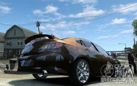 Mazda 6 2008 для GTA 4 вид сзади