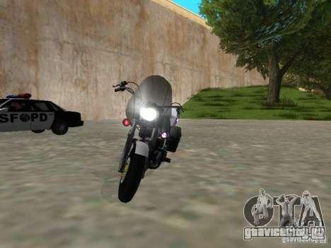 Harley Davidson Dyna Defender для GTA San Andreas вид сзади слева