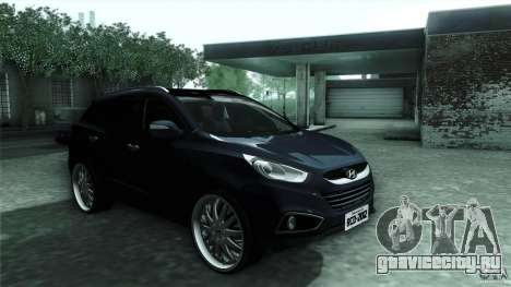 Hyundai iX35 Edit RC3D для GTA San Andreas вид сзади