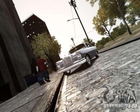 Mercedes-Benz W111 для GTA 4 вид сзади