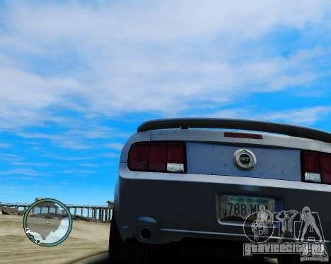 Ford Mustang GT 2005 v1.2 для GTA 4 вид сзади слева