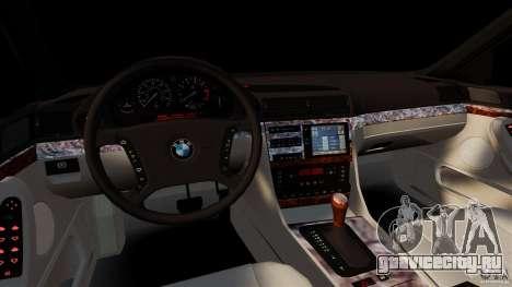 BMW 750iL E38 Light Tuning для GTA 4 вид сзади